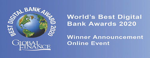 Featured image for Global Finance's Best Digital Bank Awards 2020 Virtual Awards Ceremony