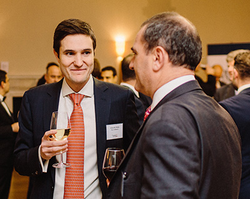 Eduardo Pinho of Itau Unibanco (l) with Robert de Gidlow of Standard Bank