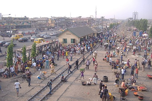 Nigeria train station Oshodi