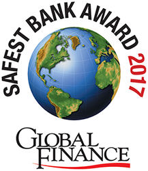 Safest Bank Awards Logo For Silverpop