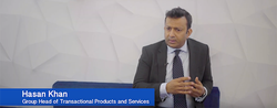Hasan Khan, Group Head of Transactional Products and Services, Standard Bank at SIBOS 2019.