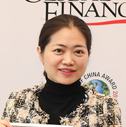 Haihai Yuan, head of corporate finance China and head of structured export fi nance for greater China at Standard Chartered, cited for Best OBOR Initiative—Foreign, and as Best Bank for RMB Services