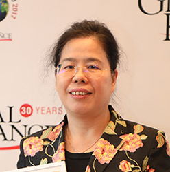 Mei Huang, deputy head of ICBC's corporate banking department, accepting for Best Corporate Bank