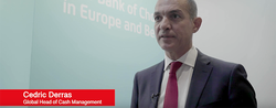 Cedric Derras, Global Head of Cash Management at UniCredit during SIBOS 2019.