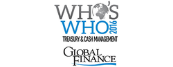 Global Finance  Names The Who's Who In  Treasury & Cash Management 2016