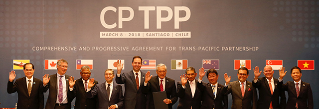 CPTPP agreement signing