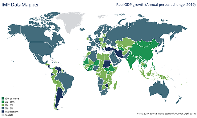 Countries with Highest GDP Growth 2019 | Global Finance Magazine