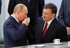 Putin and Mirziyoyev