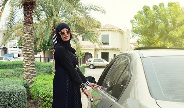 Saudi women drive